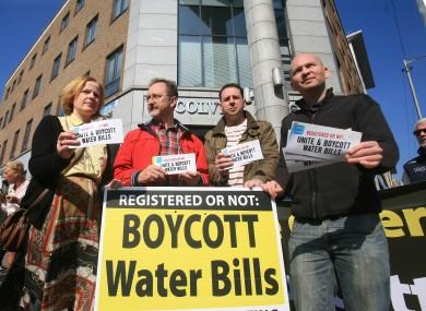 A protest outside Irish Water headquarters (File photo)