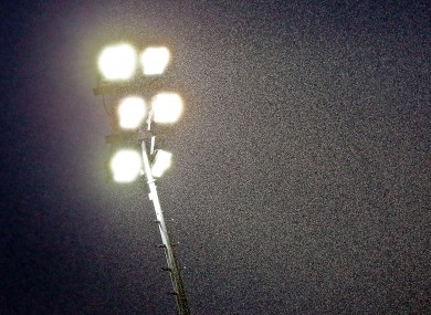 Floodlight trouble: Saturday's abandoned match ruled a draw (file photo).