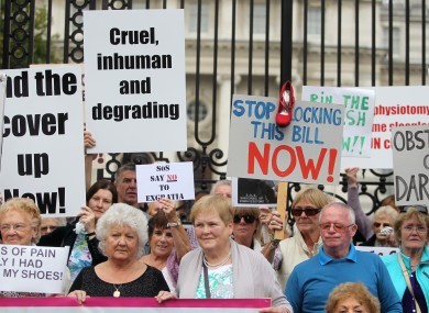 Survivors of Symphysiotomy outside the Department of the Taoiseach