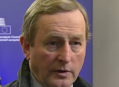 Enda Kenny in Brussels earlier today