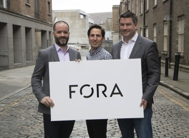 Fora publishers Brian and Eamonn Fallon with editor Peter Bodkin (centre).