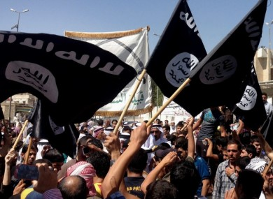 File photograph of the Islamic State flag