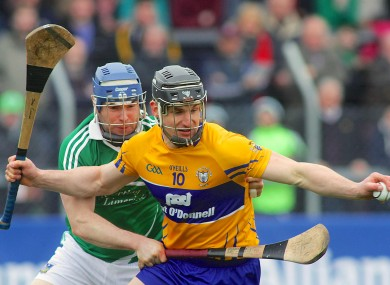 Clare's John Conlon in action against the Limerick defence.