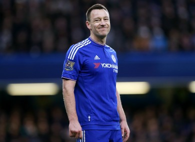 Terry is set to leave Chelsea at the end of the season.