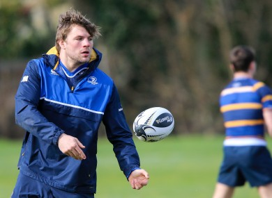 Murphy training with the Leinster squad on Tuesday.
