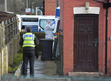 Police at the property in East Park Street, Leeds.