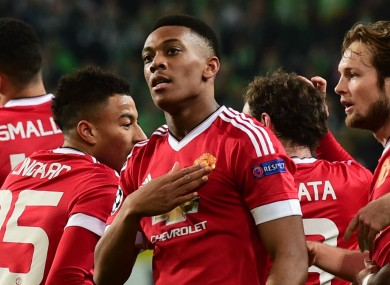 Manchester United in Champions League action