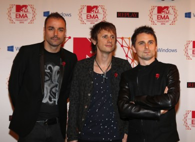 Muse: Chris Wolstenholme, Dominic Howard and Matt Bellamy.