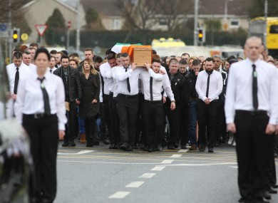 The funeral of Vincent Ryan.
