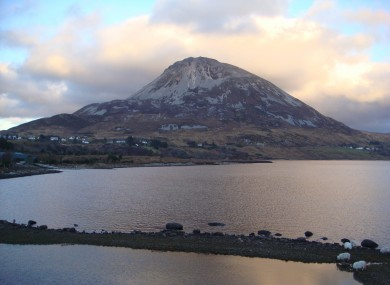 Mt. Errigal, one of the mountainous areas in Donegal.