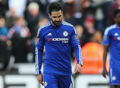 Chelsea midfielder Cesc Fabregas has rediscovered his form.