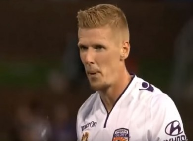 Andy Keogh has scored 10 goals in 14 appearances for Perth Glory this year.