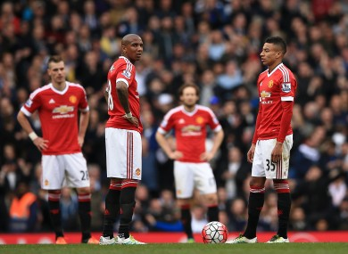 Man United's top-four hopes suffered a setback after they were beaten by Tottenham at the weekend.