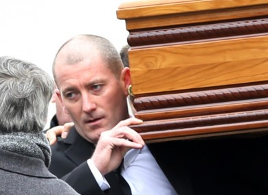 Gareth Hutch at his uncle Eddie Hutch's funeral earlier this year.