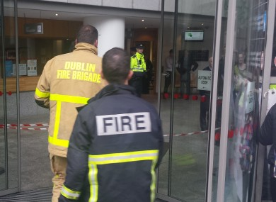 Dublin Fire Brigade briefly attended the Dublin City Council offices this morning.