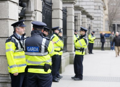 File photo of gardaí outside of Leinster House