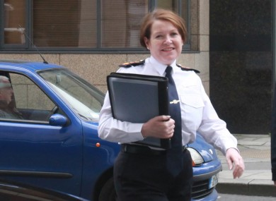 The Garda Commissioner arriving at the Policing Authority office earlier today.