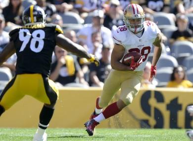 Hayne runs a return against the Steelers last September.