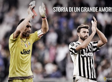 Buffon and Barzagli have won 12 Serie A title between them at Juve.