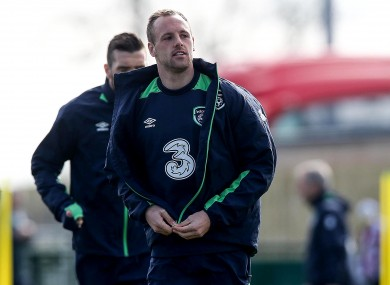 Former Cork City midfielder David Meyler starts.