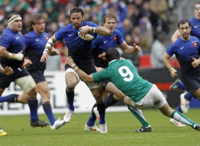 The back in action against Ireland in 2012.