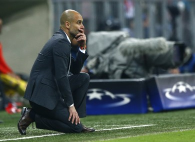 Guardiola: downed by Griezmann's away goal.