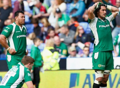 London Irish's players following defeat to Harlequins last weekend.