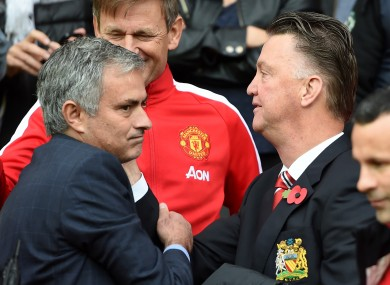 Jose Mourinho, left, has not hid his desire to be the Manchester Untied manager in the past.
