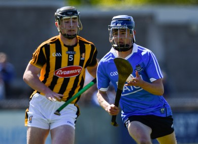 Dublin's Mark O'Keefe and Kilkenny's Brian Coady