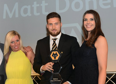 Doherty is awarded one of three awards.