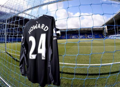 After 10 years of service, Howard is leaving Everton.