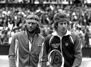 Borg and McEnroe met in four Grand Slam finals, with McEnroe winning three.