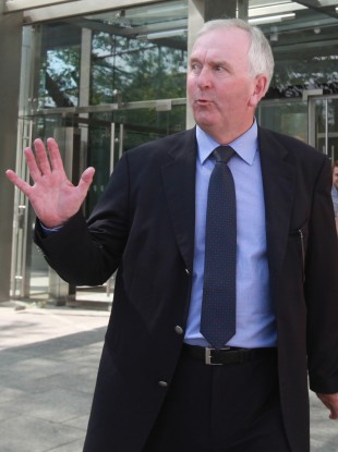 Peter Fitzpatrick pictured outside of court today