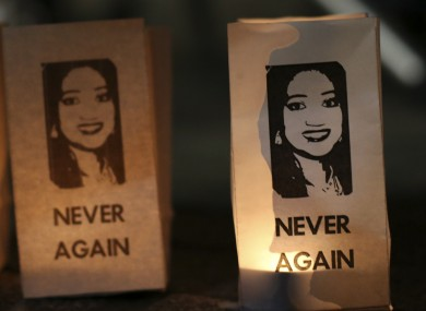 A vigil in memory of Savita Halappanavar, who died after being denied a termination.