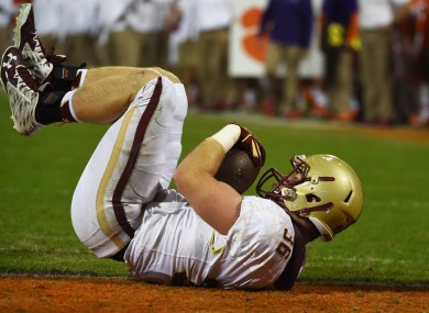 Boston College fullback Bobby Wolford in action last season.