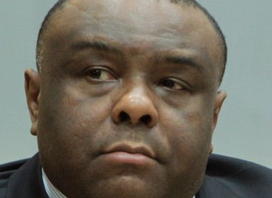 File photo of Jean-Pierre Bemba in court.