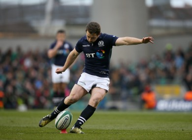 Greig Laidlaw did most of the work for Scotland.