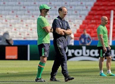 Martin O'Neill and his trusty lieutenant Roy Keane.