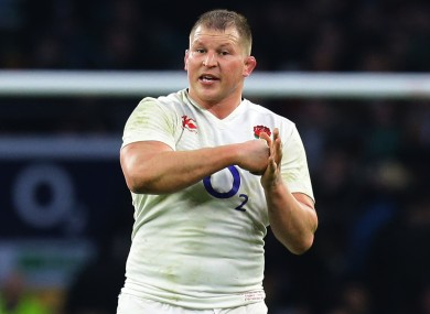 England captain Dylan Hartley.