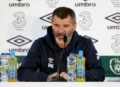 Keane was talking at today's press conference.