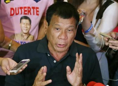 Rodrigo Duterte (File photo)