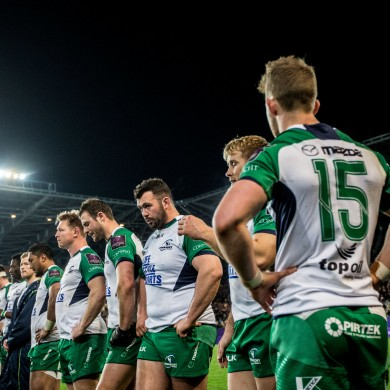 Connacht players after their thrilling Challenge Cup with Grenoble last season.