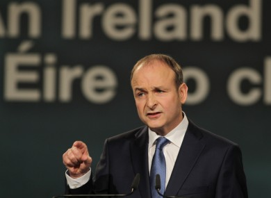 Micheal Martin at his party's Ard Fheis in January.
