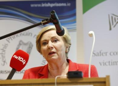 Minister for Justice Frances Fitzgerald