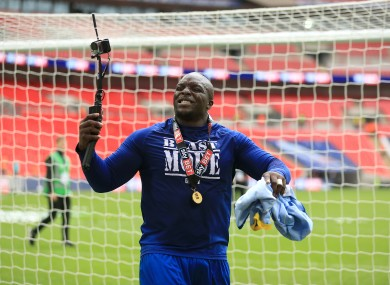 Akinfenwa at Wembley.