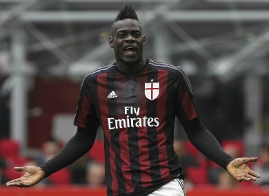 Mario Balotelli struggled to make an impact during his one-year loan with AC Milan.
