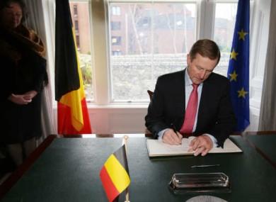 Taoiseach Enda Kenny at the Belgium Embassy