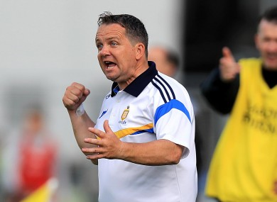 Davy Fitzgerald pictured on the sideline during today's game.