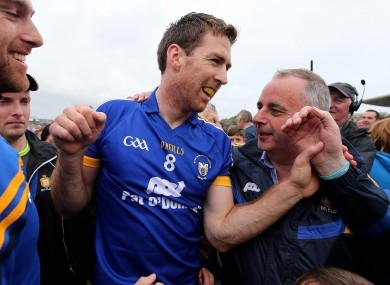 Clare's Gary Brennan at the end of their win against Roscommon earlier.