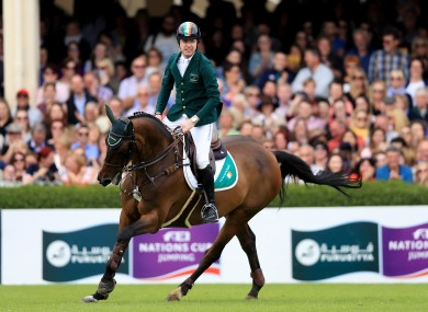Going Global and Broderick at the Dublin Horse Show this month.